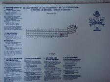 Plan original Hotel Disney Newport Bay Club - 2 GH - DISNEYLAND Paris NEUF