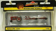 NIB HO WOODLAND SCENICS as5564 Trattore & DISCO Set
