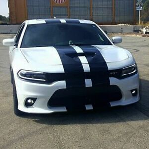 Sticker Decal rally Stripes Kit for Dodge Charger SRT Wing Skirt Headlight Lip