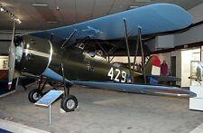 Koolhoven F.K.51 Netherlands - Air Force Airplane Desktop Kiln Wood Model Large