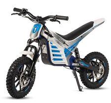 Mini moto electrica de motocross cross bateria 1000w 36v infantil blanca y azul
