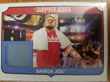 2018 Topps WWE Heritage SS-SJ Samoa Joe Survivor Series Canvas Mat Relic 249/299