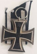 MEDAL INSIGNIA GERMAN WW1 ✠ IRON CROSS 2ND CLASS 800 SILVER MARKED ON RING ✠
