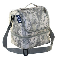 Nex® Double Decker Cooler Insulated Lunch Bag with Zip Closure Camo