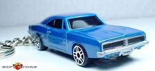 KEY CHAIN 69~1969~1970 BLUE & SILVER MOPAR DODGE CHARGER FAST & FURIOUS LIMITED