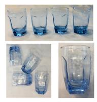 VINTAGE Libbey Juice Glasses 6 oz. CHIVALRY BLUE 4-Piece Set