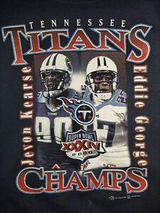 Vintage NFL Tennessee Titans Sweatshirt Youth Large Jevon Kearse Eddie George