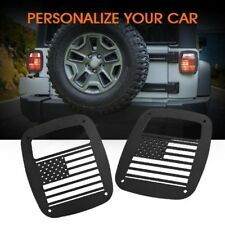 Rear Tail Light Guard Protector Cover Trim U.S. Flag For Jeep Wrangler 87+ TJ YJ