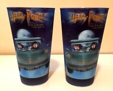 SET OF 2 COCA COLA HARRY POTTER CHAMBER OF SECRETS COKE 3D LENTICULAR CUPS 2002