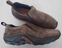 Merrell Jungle Moc Gunsmoke Brown Suede Slip on Hiking Trail Mens Size 7 Shoes