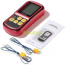 GM1312 LCD Thermocouple Thermometer Measure J K T E N R Type 2 Channel w/ wire