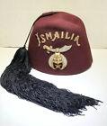 Vintage Rare Ismailia Masonic Mason shriners fez Jeweled Tassel hat antique