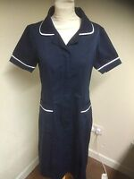Ladies Tunic Dress  Navy - White NURSES / CARE HOME/ CLEANING / UNIFORM Athens