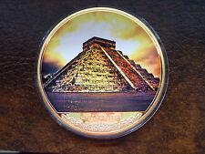 4 onzas medalla XXL-mayas de Chichen Itza