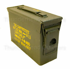 30 CAL AMMO CAN M19A1 7.62mm .30 Caliber USGI Military Surplus Very Good Cond