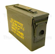 30 CAL AMMO CAN M19A1 7.62mm .30 Caliber USGI Military Surplus Very Good Cond