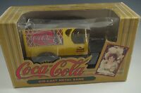 ERTL COCA COLA METAL DELIVERY TRUCK COIN BANK DIE CAST 1/34 SCALE MIB