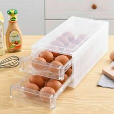 24 Grids Eggs Storage Boxes Kitchen Transparent Plastic Double Layer Containers