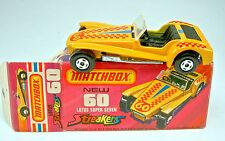 """Matchbox SF Nr.60B Lotus Super Seven dunkelgelb """"Streaker"""" neuwertig in Box"""