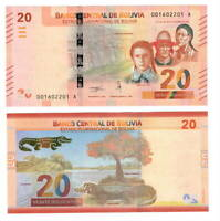 BOLIVIA UNC 20 Bolivianos Banknote Series A (2018) P-249 Paper Money