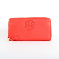 NWT Tory Burch Thea Zip Continental Leather Wallet Jasper