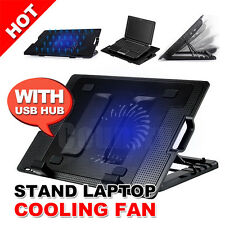 Stand USB Hub Fan Laptop Cooling Pad Table Notebook Computer Netbook Cooler