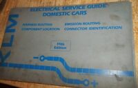KLM Electrical Service Guide Domestic Cars 1986