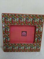 Virgin Mary Picture Frame - Pink With Gold