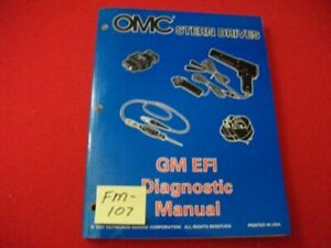 """1998 OMC STERN DRIVES-GM EFI DIAGNOSTIC """"BY"""" SERIES SERVICE MANUAL #501202 EXC"""