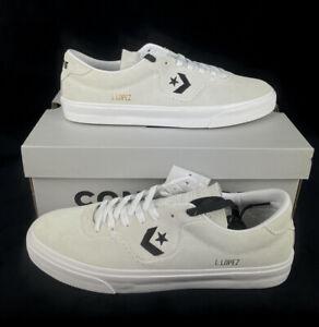 NEW Converse Louie Lopez Pro Ox CONS Skate Shoes Sneakers White Suede Black NIB