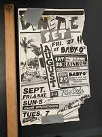 Vtg Original 1980S PUNK / NEW WAVE DYNETTE SET CONCERT FLYER SET LIST #1