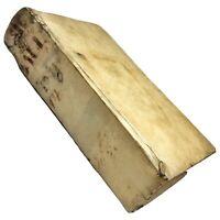 RARE Authentic 1671 Vellum Bound Book Incunable Manuscript Decor Old - 1st Ed.