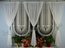 VENTANA 180cm Cortina COMPLETO Decoración Salón Blanco Gris Negro 00552