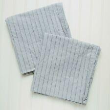 Ralph Lauren Home, KING Pillowcases, FRANCE Soft 100% Cotton striped blue ivory