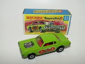 Matchbox Superfast No 62 Mercury Cougar Rat Rod Dragster Lime Green NMIB HTF