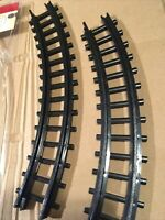 LEMAX  Express Train Tracks -CURVED  2 Pieces -Holiday Village Train Expansion