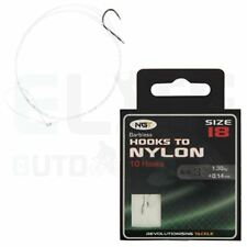 Barbless Size 18 Hooks to 3lb Nylon X 10 by NGT Carp Course Fishing