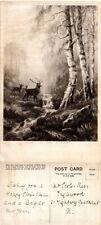 Deer Unposted Inter-War (1918-39) Collectable Animal Postcards