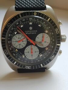Junghans Olympic Chronograph 20 atm 1972 valjoux 7736