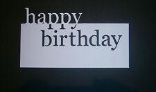 MEMORY Box Happy Birthday muoiono tagli