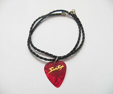 SAVATAGE guitar pick plectrum braided LEATHER NECKLACE 20""