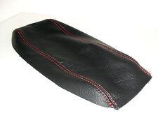 Alfa Romeo 147 cover per bracciolo in vera pelle nera filo rosso