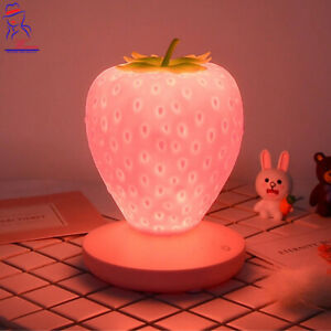 New Modern Small Strawberry Touch Dimmable Table Lamp Bedside USB Night Light