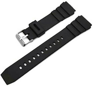 18/20/22mm Black Rubber Silicon Pin Buckle Watch Band Wristwatch Straps