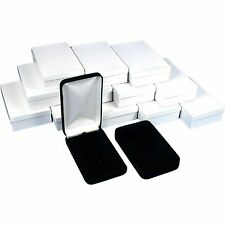 12 Black Velvet Necklace Boxes Gift Showcase Displays