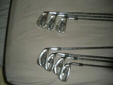 EXCELLENT MENS CALLAWAY LEGACY BLACK IRONS 4-PW KBS TOUR ISSUE SHAFTS GOLF PRIDE