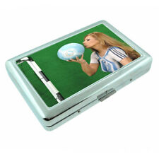 Argentina Pin Up Girls D9 Silver Metal Cigarette Case RFID Protection Wallet