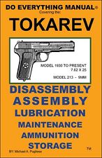 TOKAREV PISTOL DO EVERYTHING MANUAL  DISASSEMBLY ASSEMBLY MAINTENANCE  NEW  BOOK