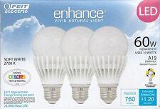 3 PACK Feit 10 Watt A19 Dimmable LED Light Bulbs 3-Pack (equiv to 60 watts)