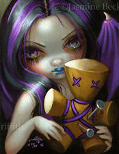 Voodoo in Violet Jasmine Becket-Griffith CANVAS PRINT gothic doll fairy pop art